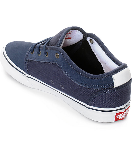 Vans Chukka Low Persian Night, White, & Red Boys Shoes