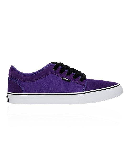 Vans Chukka Low Purple & Black Skate Shoes at Zumiez : PDP