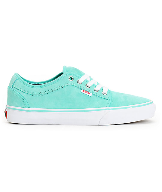 Vans Chukka Low Seafoam Suede Skate Shoes