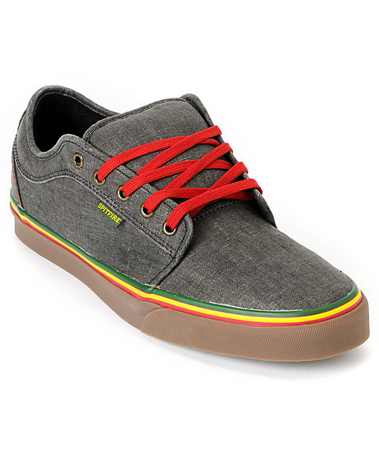 Vans Chukka Low Spitfire x Cardiel Hemp Rasta Skate Shoes (Mens)