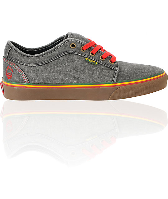 Vans Chukka Low Spitfire x Cardiel Hemp Rasta Skate Shoes