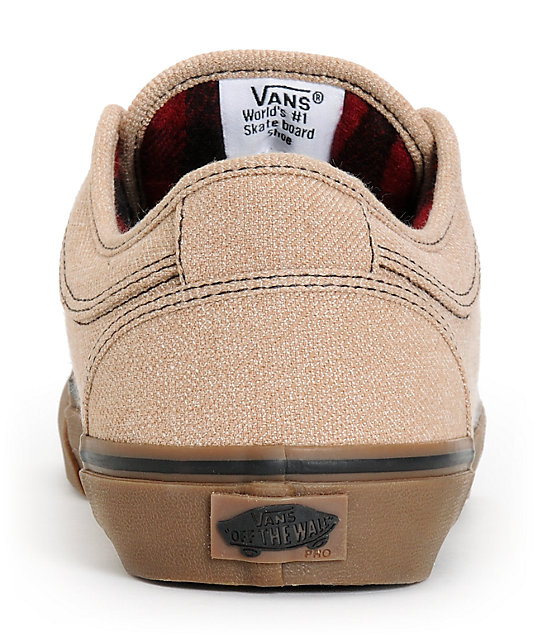 Vans Chukka Low Tan & Gum Canvas Skate Shoes