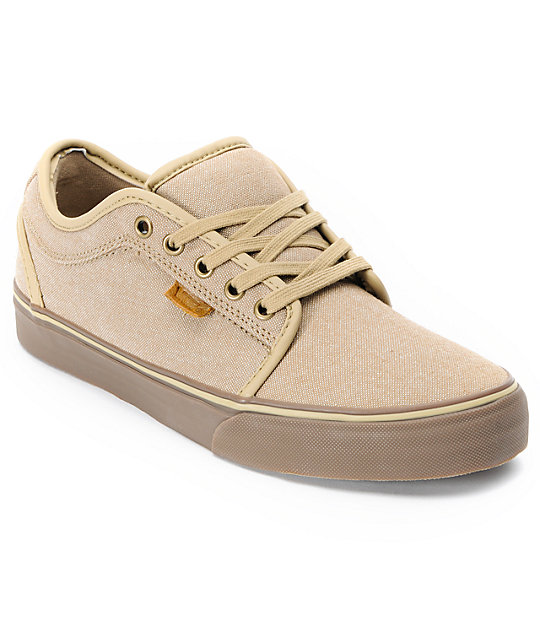 Vans Chukka Low Tan Canvas & Gum Skate Shoes (Mens)
