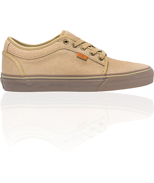 Vans Chukka Low Tan Canvas & Gum Skate Shoes