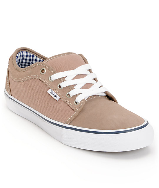 Vans Chukka Low Taupe & Navy Skate Shoes (Mens)