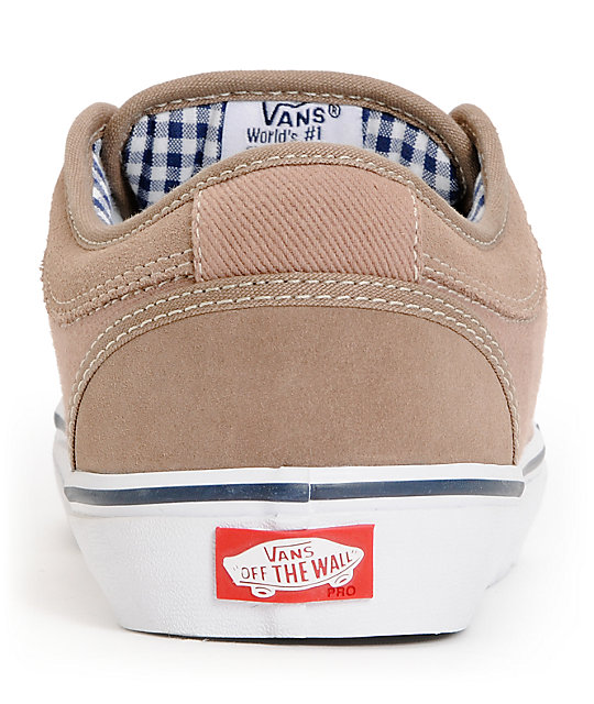 Vans Chukka Low Taupe & Navy Skate Shoes