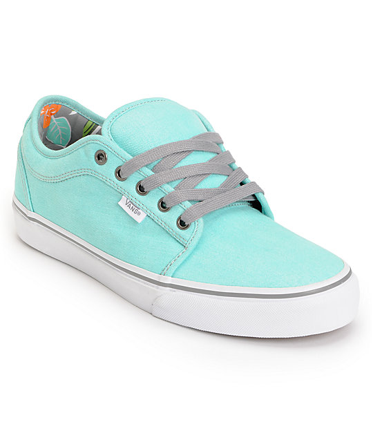 Vans Chukka Low Wash Hawaiian Mint Skate Shoes (Mens)