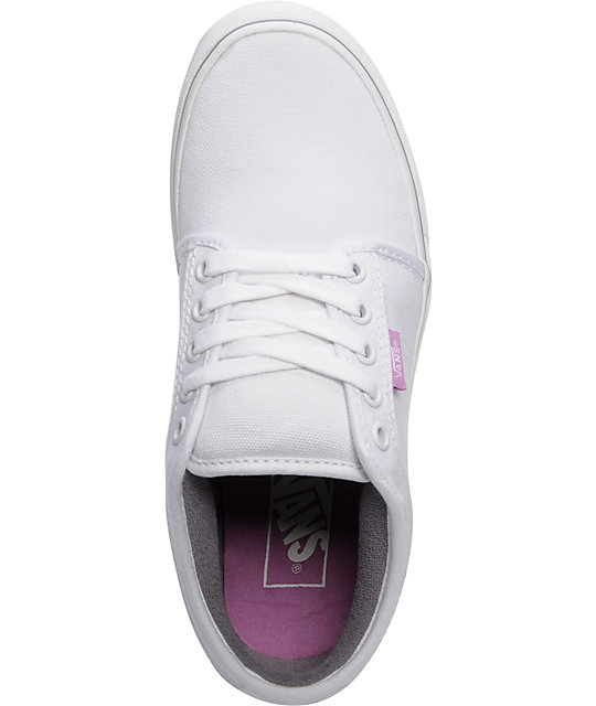 Vans Chukka Low White & Violet Shoes