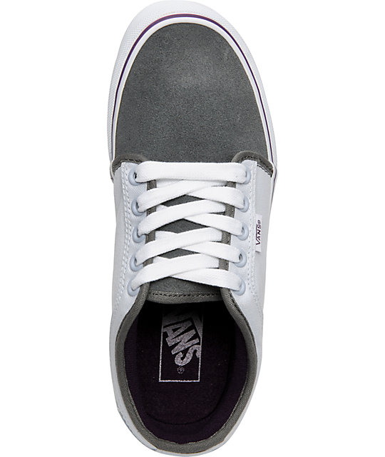 Vans Chukka Low White Grey & Purple Shoes