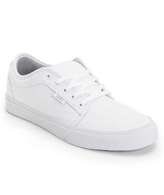 Vans Chukka Low White Skate Shoes (Mens)
