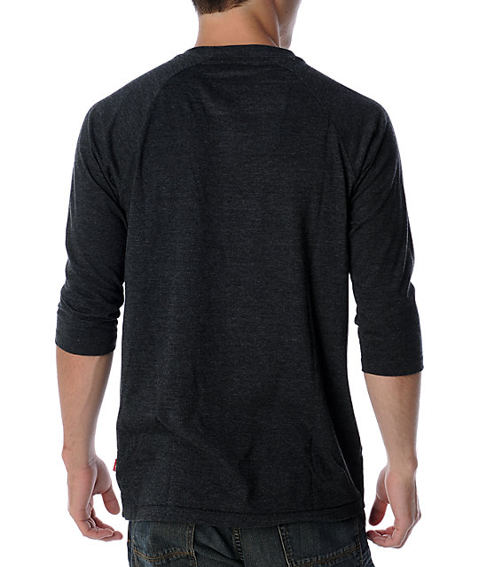 Vans Classic Basic Heather Black Baseball T-Shirt