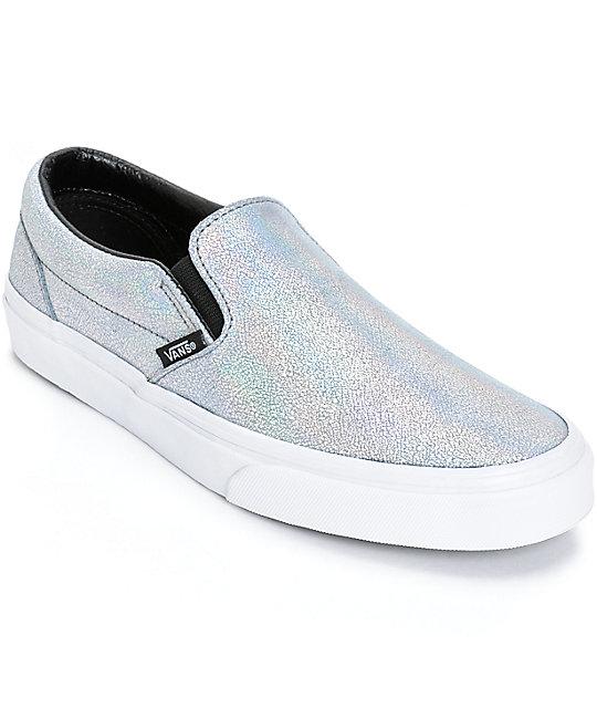 Vans Classic Iridescent Slip-On Shoes (Womens)