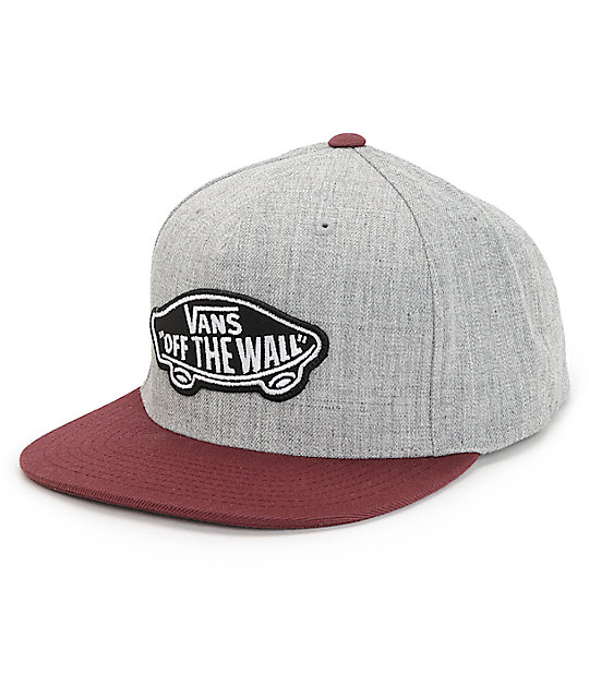 Vans Classic Patch Heather Grey & Port Snapback Hat