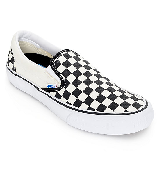 vans slip-on classic checkered black/white