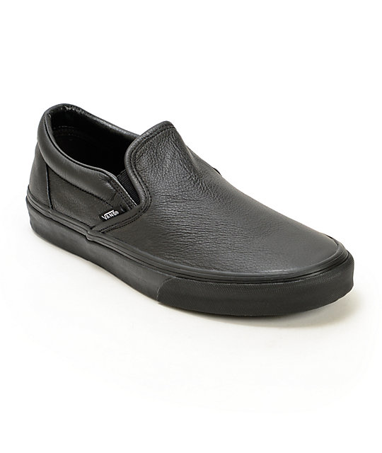 vans classic slip on leather shoes at zumiez pdp