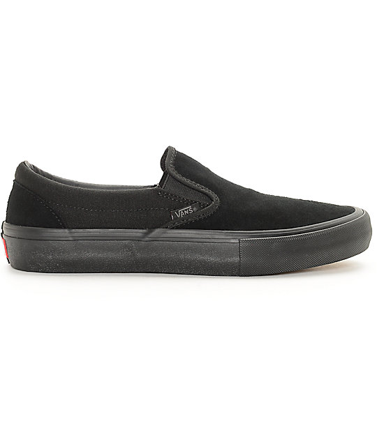Vans Classic Slip-On Pro Black Mono Skate Shoes