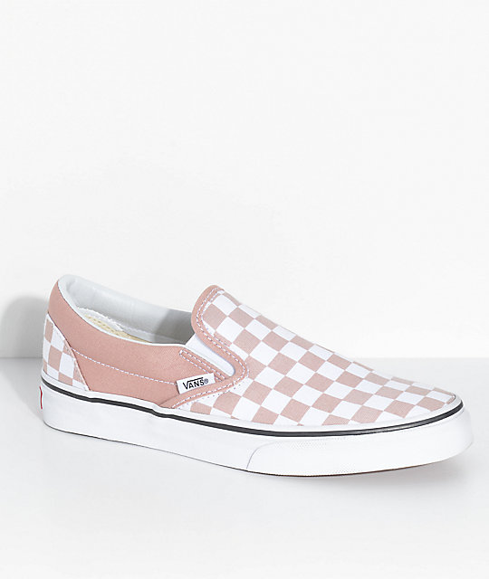 Vans Classic Slip-On Rose Checkered Shoes