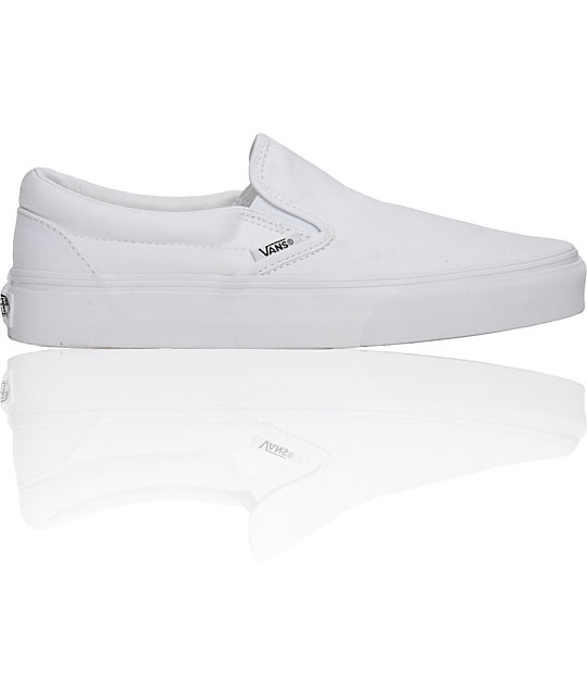 Vans Classic True White Skate Shoes
