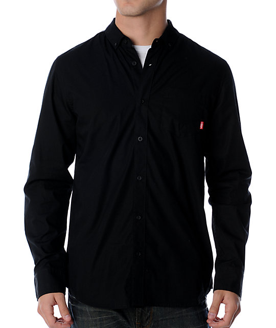 Vans Core Basic Black Woven Shirt