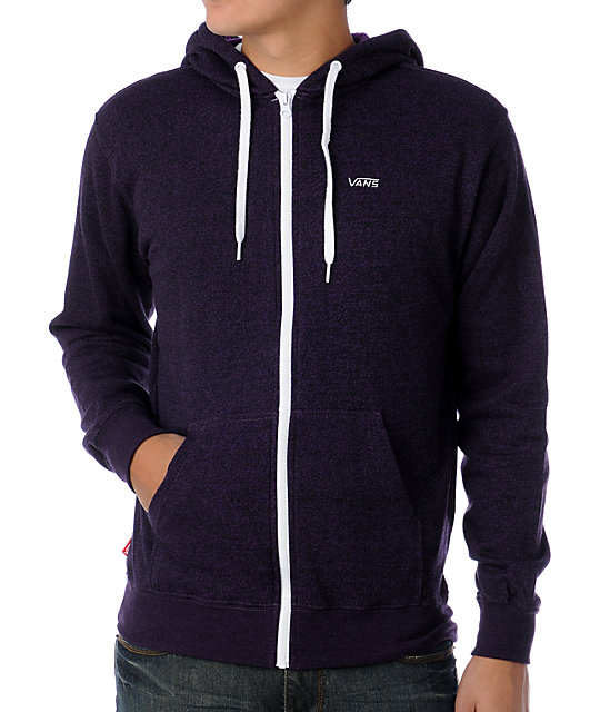 Vans Core Basic Heather Purple Hoodie