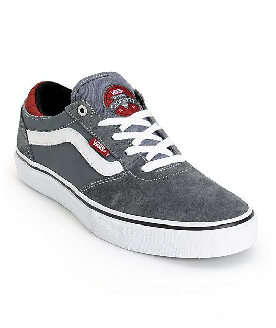 Vans Crockett Pro Cork Dark Grey Skate Shoes (Mens)