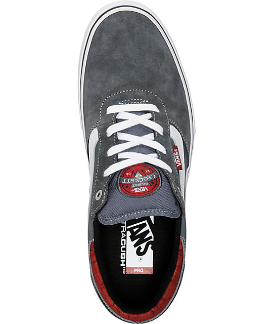 Vans Crockett Pro Cork Dark Grey Skate Shoes