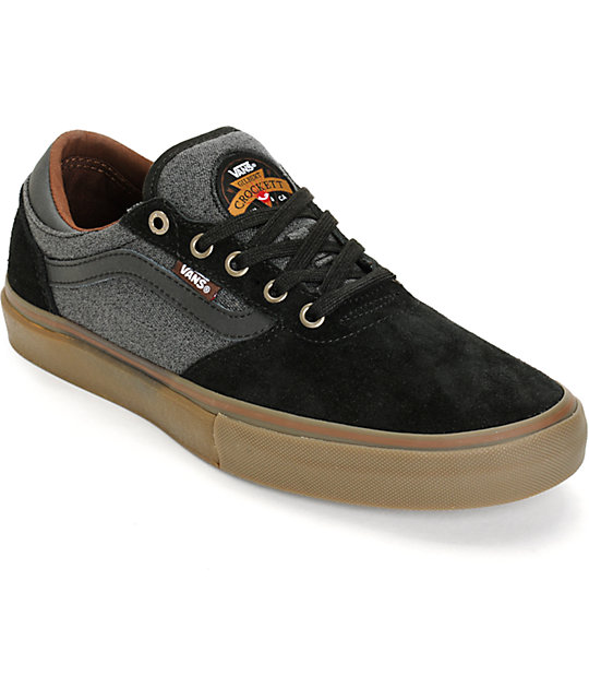 Vans Crockett Pro Covert Twill Skate Shoes (Mens)