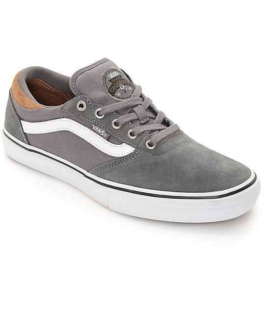 Vans Crockett Pro Grey Tornado Skate Shoes