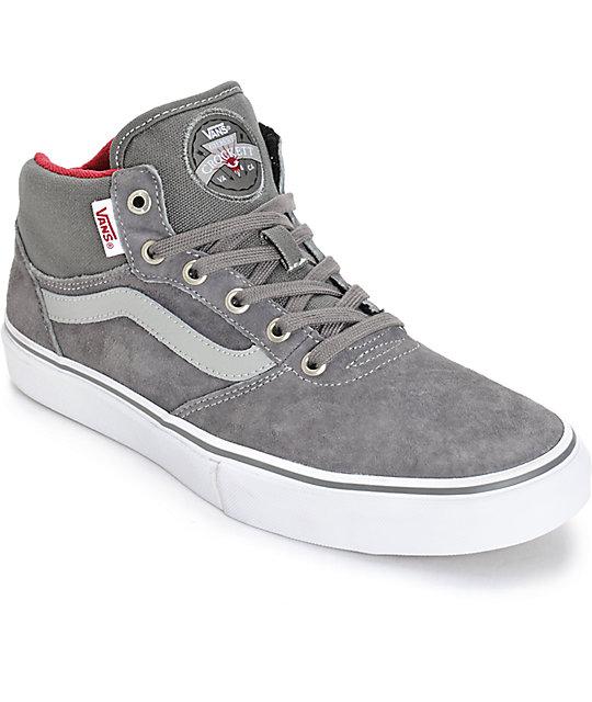 Vans Crockett Pro Mid Skate Shoes (Mens)