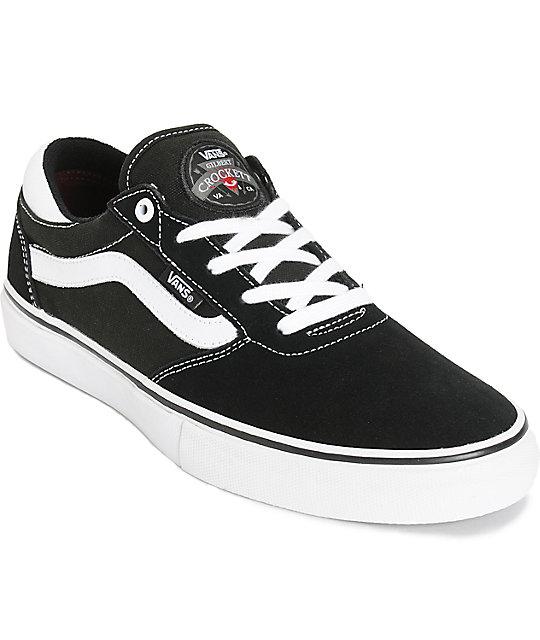 Vans Crocket Pro White Skate Shoes Size