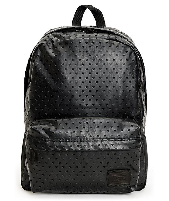 Vans Deana Black Heart Backpack