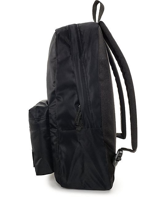 Vans Deana Black Satin Backpack | Zumiez