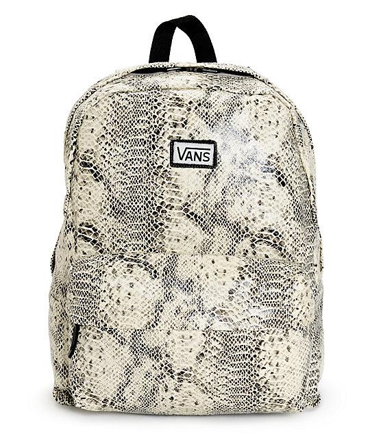 vans snake print backpack
