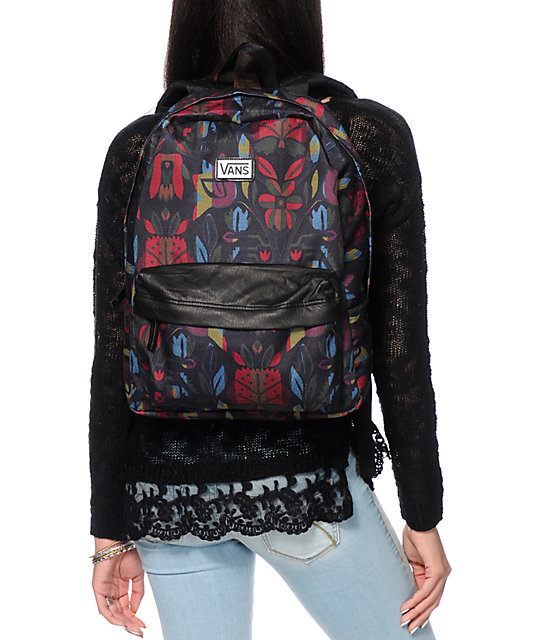 Vans Deana II Black Floral Backpack