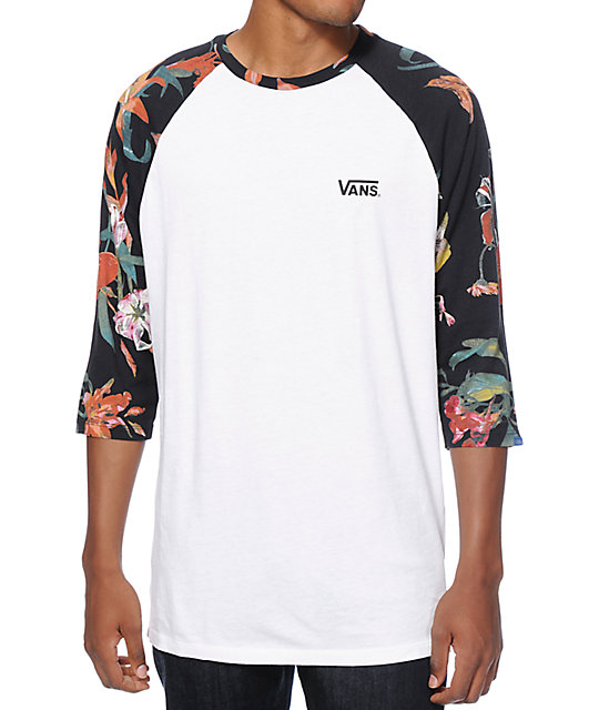 vans death bloom baseball t shirt. Black Bedroom Furniture Sets. Home Design Ideas
