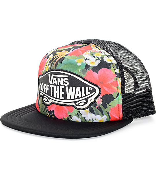 Vans Digi Aloha Black Multi Trucker Hat