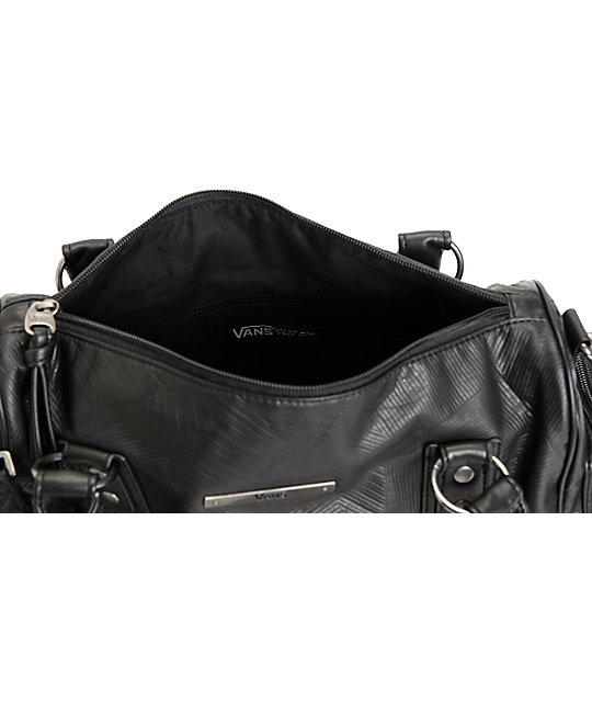Vans Dispute Multi Handle Black Leather Bag