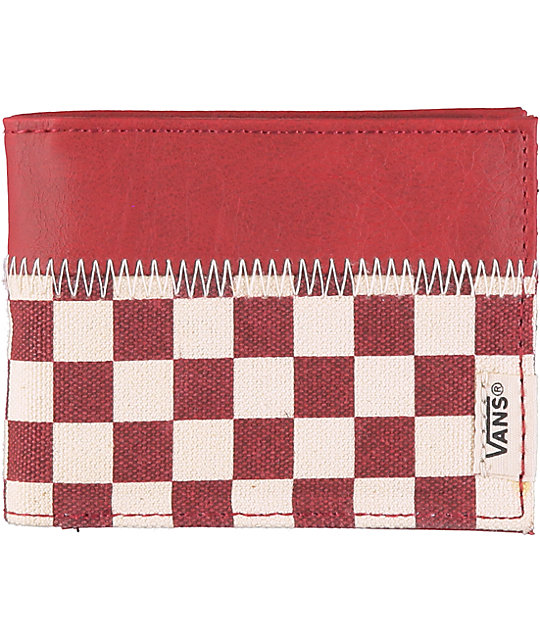 Vans Doheny Red & White Bifold Wallet