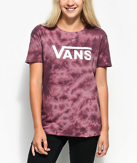 Camiseta De Las Mujeres Burdeos Furgonetas mGmD6p0tMn