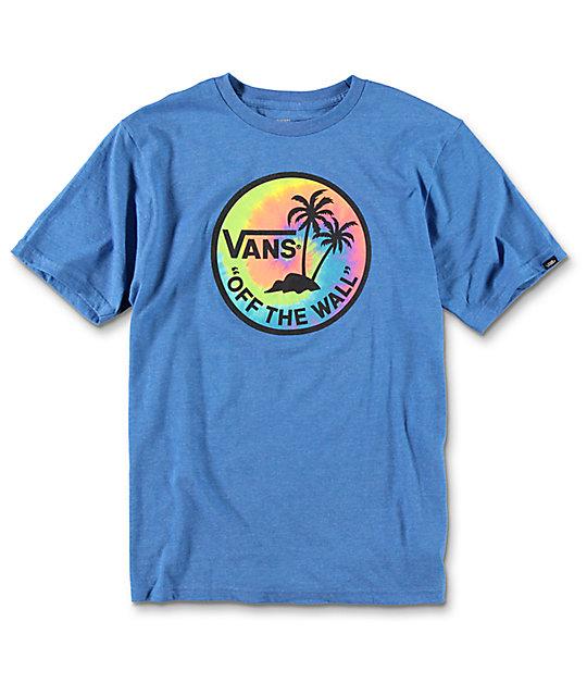 Vans Dual Palm Boys Heather Royal T-Shirt