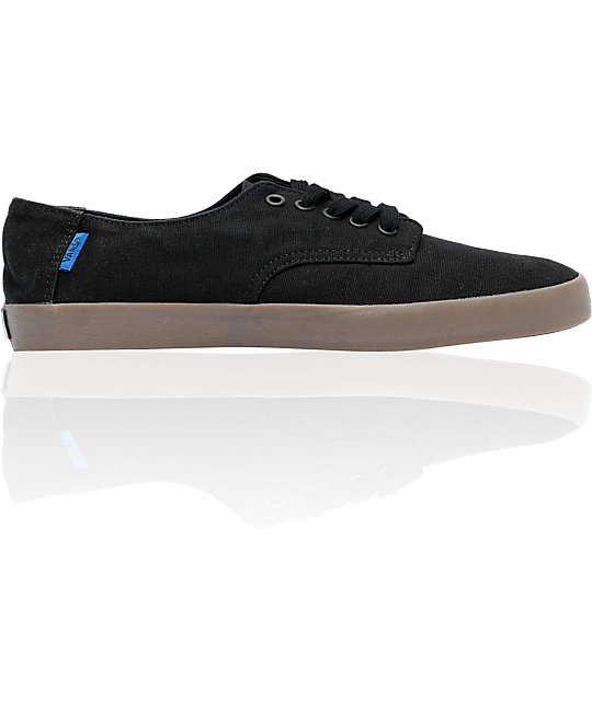 Vans E-Street Black & Gum Hemp Skate Shoes