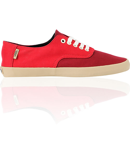 Vans E-Street Chili Pepper & Biking Red Skate Shoes (Mens)