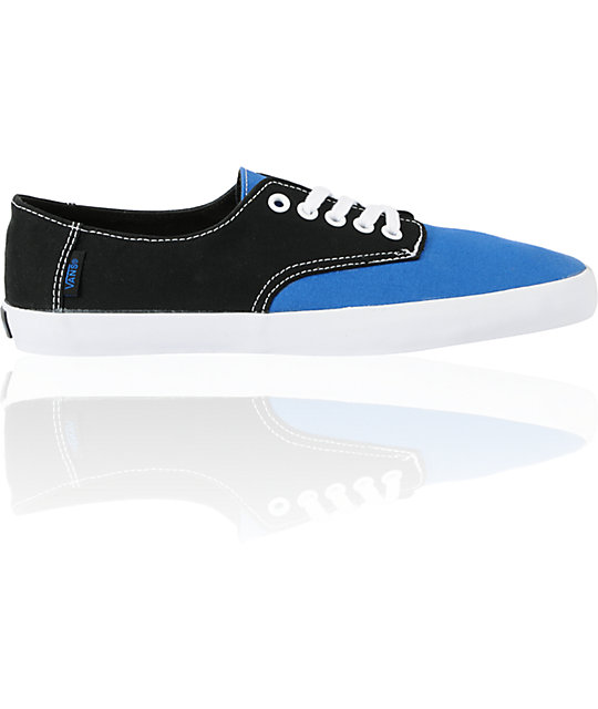 Vans E-Street Classic Blue & Black Skate Shoes (Mens)