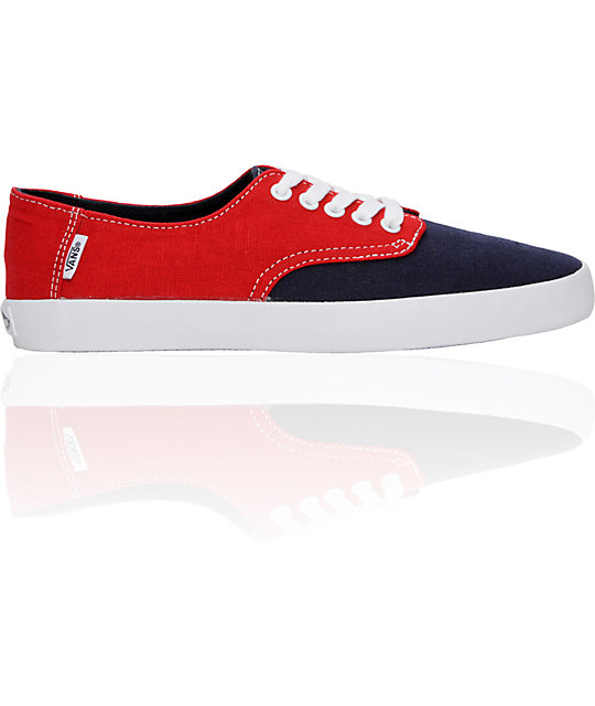 Vans E Street Red & Blue Skate Shoes (Mens)