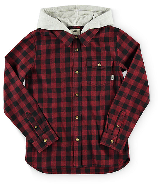 Vans Eckleson Hooded Flannel (boys)