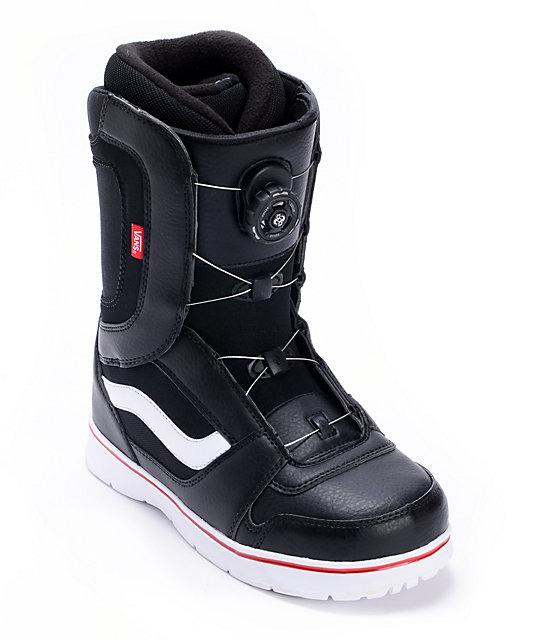 Vans Encore Black & White Snowboard Boots