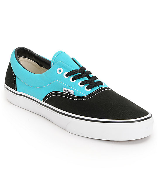 Vans Era 2 Tone Black & Scuba Blue Skate Shoes (Mens)