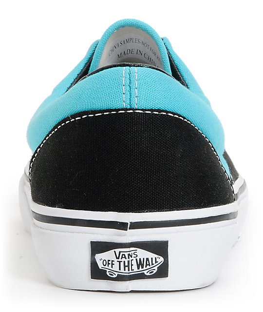 Vans Era 2 Tone Black & Scuba Blue Skate Shoes