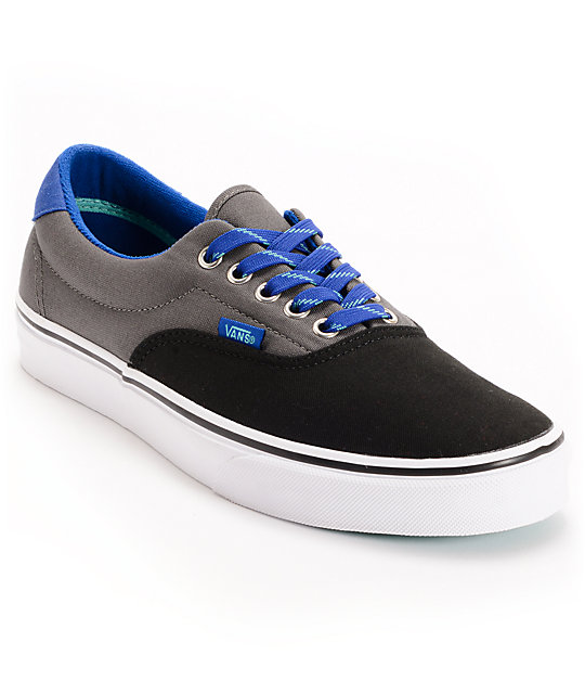 Vans Era 3-Tone Black & Pewter Skate Shoes (Mens)
