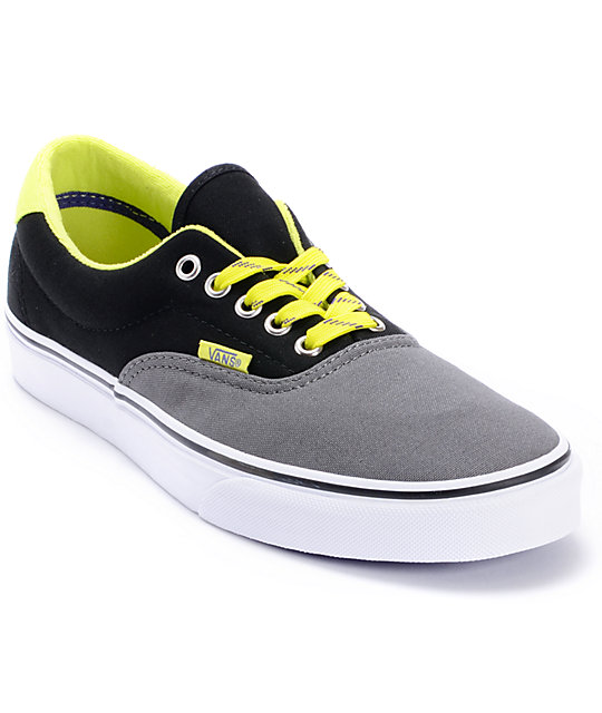 Vans Era 3-Tone Pewter & Lime Skate Shoes (Mens)